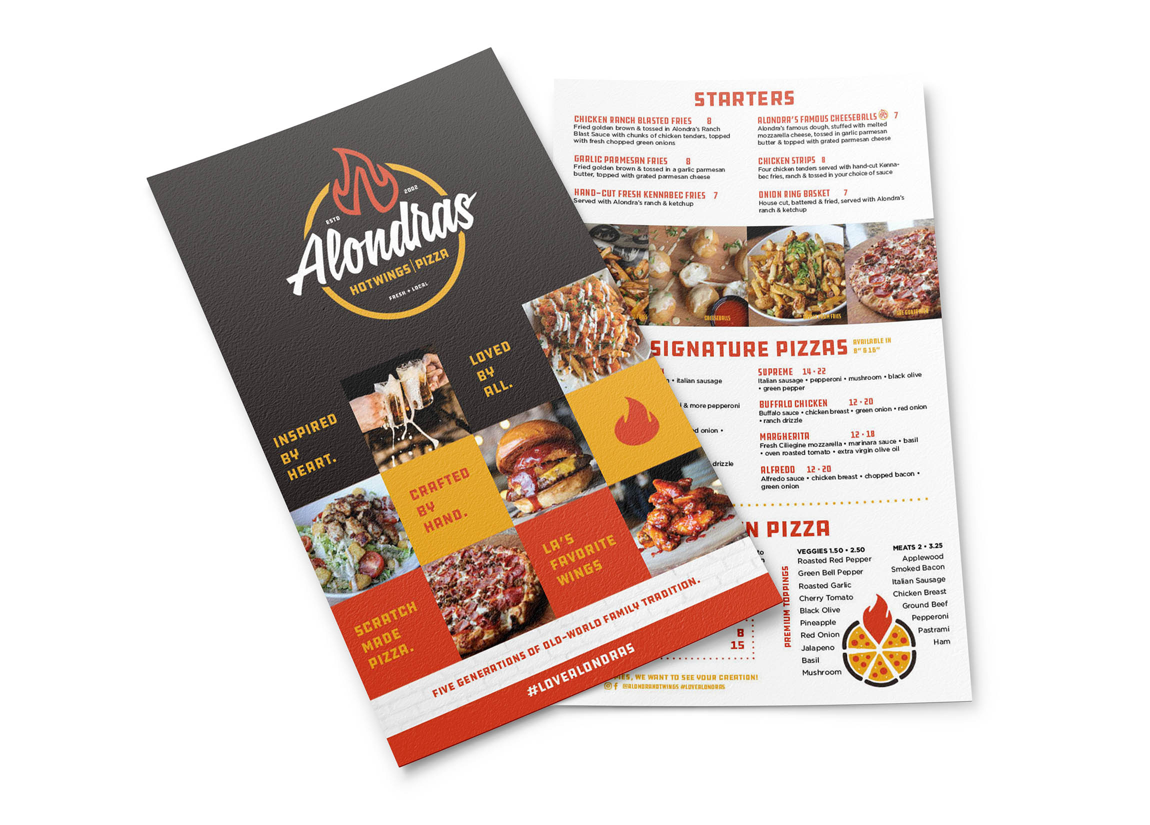 ALONDRAS 2020 MENU